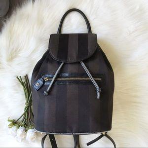 Fendi Pequin Stripe Canvas Backpack